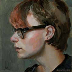 """Daily Paintworks - """"Ray Bans"""" - Original Fine Art for Sale - © J. Dunster"""