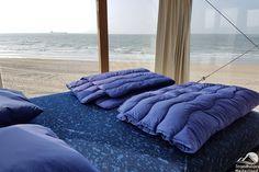Einzigartige Strandhäuser am Strand von Nieuwvliet, Zeeland. Haustiere erlaubt und nicht weit entfernt von Cadzand-Bad. Ferienhaus am Meer am saubersten Strand der Niederlande.