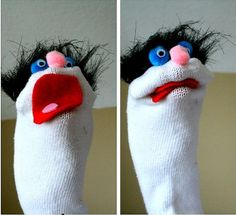 simple sock puppets | Crafts for Kids Blog » Tutorial: Sock Puppet APRIL 28 NATIONAL PUPPETRY DAY