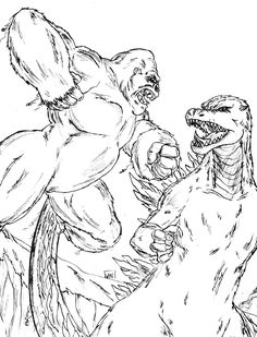 godzilla coloring pages free large images