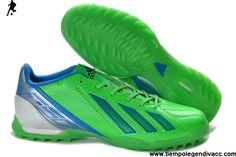 low priced 5d846 0d06e 2013 New adidas F10 TRX TF Football Boots Messi 7 - Green Blue Silver Soccer  Boots