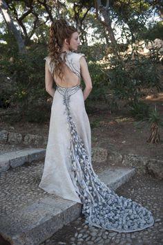 Natalie Dormer:Wedding Gown , margary tyrell
