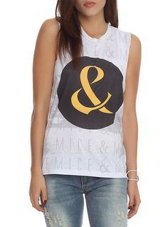 Of Mice And Men Ampersand Muscle Girls T-Shirt | Hot Topic