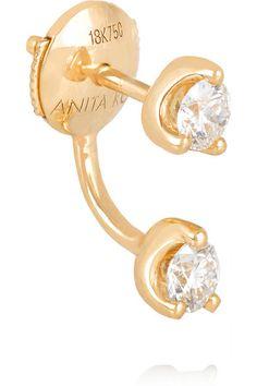 Anita Ko | Orbit 18-karat gold diamond earring | NET-A-PORTER.COM