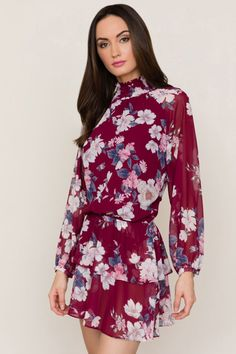 Class Act Dress - YUMI KIM - Our Class Act dress is a fun take on a mini dress that can be worn day to night. #YumiKim #Holidays #Floral #fashion