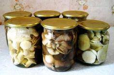 Жареные грибы на зиму в банках - рецепт для консервирования. | Идея Меню