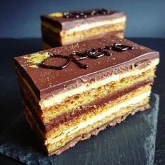 Prajitura Opera • Gustoase.net Torte Recepti, Kolaci I Torte, Sweet Desserts, Sweet Recipes, Baking Recipes, Cookie Recipes, Opera Cake, Torte Cake, Croatian Recipes