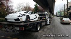 Lamborghini Gallardo LP Superleggera crashed in Vancouver, BC, Canada Lamborghini Gallardo, Tow Truck, Lp, Vancouver, The Incredibles, Canada