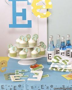 alphabet party {Martha} Baby First Birthday, Birthday Fun, First Birthday Parties, Birthday Party Themes, First Birthdays, Birthday Ideas, Abc Party, Kid Parties, School Parties