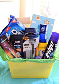 Off to college gift basket study gift basket graduation gift 11 must have items for a guys college care package negle Image collections