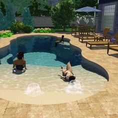 Small Swimming Pools, Small Pools, Swimming Pools Backyard, Swimming Pool Designs, Lap Pools, Indoor Pools, Pool Decks, Backyard Pool Landscaping, Backyard Pool Designs