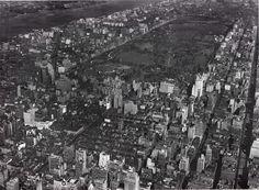 Midtown Manhattan overlooking Central Park in 1927, New York