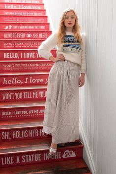 words and stairs. not that i have stairs. lots of words, no stairs. #elle #comehome