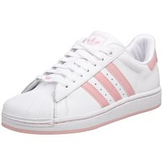 Love my shell toes in pink and white