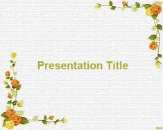 Flower Models PowerPoint Template