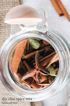 DIY Chai Spice Mix is a simple homemade holiday gift that the foodie or tea-lover in your life will go crazy for. Use in tea   baked goods! via @gratefulgrazer