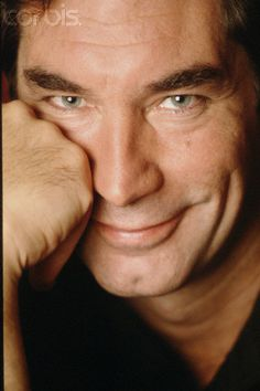 Timothy Dalton very nice photo-dimple and smiling eyes.