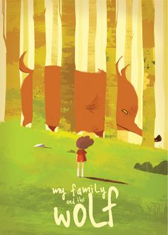"""Artworks of """"My family and the wolf"""" animated..."""