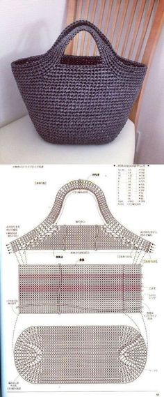 A bag A bag - # crochet handbags and purses How To Do Crochet, Crochet Baby, Knit Crochet, Crochet Braids, Crochet Ripple, Crochet Afghans, Free Crochet, Crochet Handbags, Crochet Purses