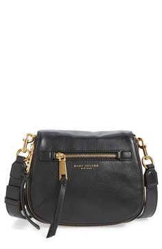 MARC JACOBS 'Small Recruit' Pebbled Leather Crossbody Bag women-clothing.club