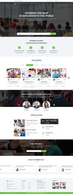 Academ is clean and modern design PSD teplate for #college and #education services website with 4 homepage layouts and 40 layered PSD pages to live preview & download click on Visit #psdtemplates