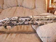 Steps to painting a shotgun (dial up users beware) : Shotgun Forum Camo Guns, Hunting Guns, Duck Hunting, Hunting Stuff, Camo Spray Paint, How To Paint Camo, Savage Rifles, Camo Stencil, Waterfowl Hunting