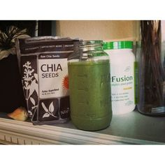 #vegan #smoothie #meal My go-to green smoothie. Remember this is quick MEAL not a drink. Cheers!   *Big handful baby spinach (my hand is small, approx. 1.5c loosely packed) *1 frozen banana (I freeze bananas at the start of my week, makes it easier) *1Tbsp Chia Seeds *1c. Unsweetened Almond Milk *1/2 scoop to 1 scoop Plant Fusion Vanilla Bean Vegan Protein(protein should be 10-15% of your total calories, this formula has about 20 grams of protein per scoop) *3-4 ice cubes Blend, drink…