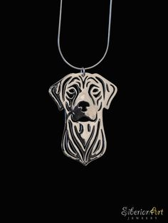 Rhodesian Ridgeback - sterling silver pendant and necklace. via Etsy.