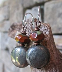 Urban Drops  Mixed metal and stones. by kimhunt on Etsy, $18.00