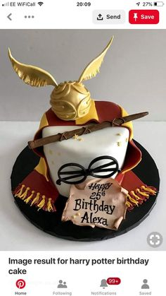 Ideas Birthday Cupcakes Decoration Awesome Harry Potter For 2019 Bolo Harry Potter, Harry Potter Snacks, Gateau Harry Potter, Harry Potter Birthday Cake, Theme Harry Potter, Harry Potter Cake Decorations, Harry Potter Invitations, Cupcakes Decoration Awesome, 7th Birthday Cakes