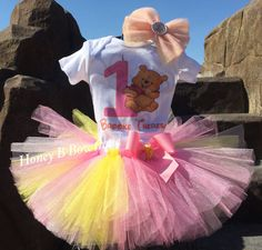 Winnie the Pooh First Birthday Tutu Outfit/Pooh by HoneyBBowtique1