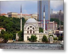 Dolmabahce Mosque In Istanbul Metal Print by Artur Bogacki