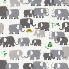 Who knew that there was fabric out there with iconic Ed Emberley designs?! Bonus: they are organic. Seeeriously considering buying a yard or two of this precious elephant fabric.