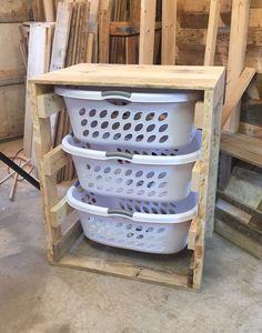 Laundry Room Design: Laundry Basket Dresser: maybe put doors on it to c...