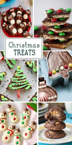 40+ Fun Christmas Treats for the holiday party season. Lots of great ideas for DIY baking gifts or special treats for kids.