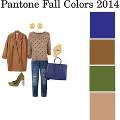"""Pantone Fall Colors 2014 (1)"" by pumpsandgloss on Polyvore"