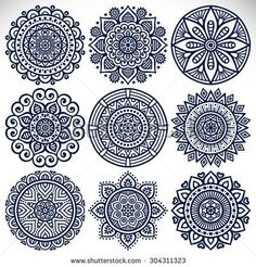 "Képtalálat a következőre: ""pakistani textile patterns"" Vintage decorative elements with mandala.Mandala Fotos, imagens e fotografias StockFind indian pattern Stock Images in HD and millions of other royalty-free stock photos, illustrations an Mandala Art, Mandalas Painting, Mandala Drawing, Mandala Pattern, Dot Painting, Indian Mandala, Indian Henna, Flower Mandala, Indian Patterns"