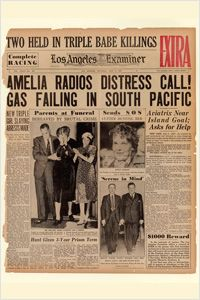 The Los Angeles Examiner reported on a distress call radioed by Amelia Earhart in the July 3, 1937, edition. (Newseum collection)