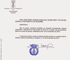 Guillén miente con el sueldo del alcalde y la presentación de propuestas al pleno