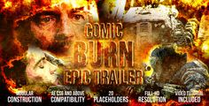 Comic Burn Epic Trailer (Fire)  After Effects Templates #aftereffects