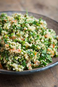Tabbouleh is a traditional salad across the Middle East. Classically there would be far more parsley than bulgur wheat – perhaps only a few tablespoons of cooked wheat …