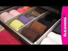 [VIDEO]: How to Organize Dresser Drawers & Fold Underwear, Bras, & Socks from http://www.alejandra.tv