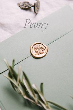Calligraphy Wax Seal Set - Botanical Illustration