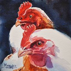 Friend-emies by Spencer Meagher Watercolor ~ 8 x 8