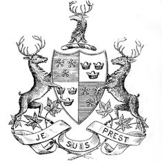"#Scotland #Outlander Clan Fraser Arms Je Suis Prest, ""I Am Ready"" [The white flowers stand for honor, the red fruit for courage and the green leaves for constancy]"