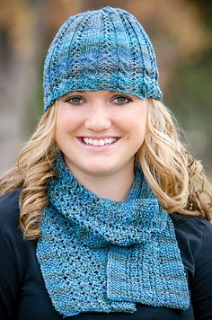 Mountain Colors Crazyfoot Ravelry: Spring Thaw Hat & Scarf pattern by Dee Jones