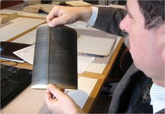 The audio historian David Giovannoni with a recently discovered phonautogram that is among the earliest sound recordings.   http://www.nytimes.com/2008/03/27/arts/27soun.html?hp