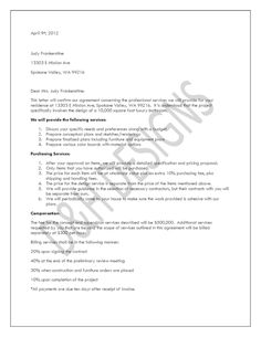How to write an interior design letter of agreement or interior printable sample letter of agreement form spiritdancerdesigns Gallery