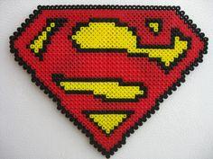 Perler Big Superman Logo by Slimer530 on deviantART
