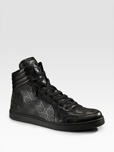 AMAZINGGGGG! high tops from the gucci for men collection at saks5th